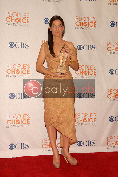Sandra Bullock<br /> at the Press Room for the 2010 People's Choice Awards, Nokia Theater L.A. Live, Los Angeles, CA. 01-06-10<br /> David Edwards/Dailyceleb.com 818-249-4998