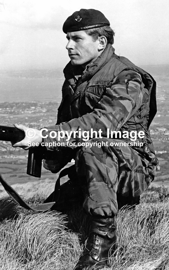 Corporal Thomas Taylor, 2 Bn, Light Infantry, from Sunderland, England, who died 13th May 1973, as the result of injuries caused by a Provisional IRA booby trap bomb in a factory in West Belfast. 197305130289<br /> <br /> Copyright Image from Victor Patterson, 54 Dorchester Park, <br /> Belfast, UK, BT9 6RJ<br /> <br /> t1: +44 28 9066 1296 (from Rep of Ireland 048 9066 1296)<br /> t2: +44 28 9002 2446 (from Rep of Ireland 048 9002 2446)<br /> m: +44 7802 353836<br /> <br /> e1: victorpatterson@me.com<br /> e2: victorpatterson@gmail.com<br /> www.victorpatterson.com<br /> <br /> Please see my Terms and Conditions of Use at www.victorpatterson.com. It is IMPORTANT that you familiarise yourself with them.<br /> <br /> Images used on the Internet must be visibly watermarked i.e. &copy; Victor Patterson<br /> within the body of the image and copyright metadata must not be deleted. Images <br /> used on the Internet have a size restriction of 4kbs and will be chargeable at current<br />  NUJ rates unless agreed otherwise.<br /> <br /> This image is only available for the use of the download recipient i.e. television station, newspaper, magazine, book publisher, etc, and must not be passed on to any third <br /> party. It is also downloaded on condition that each and every usage is notified within 7 days to victorpatterson@me.com<br /> <br /> The right of Victor Patterson to be identified as the author is asserted in accordance with The Copyright Designs And Patents Act (1988). All moral rights are asserted.