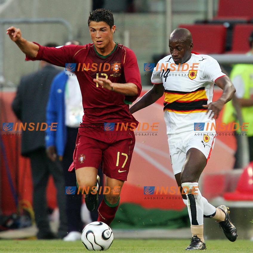 Koln 11/6/2006 World Cup 2006.Angola Portugal - Angola Portogallo 0-1.Photo Andrea Staccioli Insidefoto.Cristiano Ronaldo Portogallo Mendonca Angola