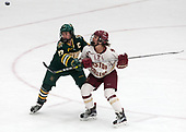 Taylor Willard (UVM - 27), Kenzie Kent (BC - 12) -  The Boston College Eagles defeated the University of Vermont Catamounts 4-3 in double overtime in their Hockey East semi-final on Saturday, March 4, 2017, at Walter Brown Arena in Boston, Massachusetts.