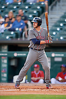 Lehigh Valley IronPigs catcher Logan Moore (35) at bat during a game against the Buffalo Bisons on June 23, 2018 at Coca-Cola Field in Buffalo, New York.  Lehigh Valley defeated Buffalo 4-1.  (Mike Janes/Four Seam Images)