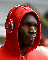 Christian Benteke of Liverpool during the Barclays Premier League match between Swansea City and Liverpool played at the Liberty Stadium, Swansea on 1st May 2016