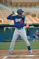 Los Angeles Dodgers first baseman Ibandel Isabel (90) during a Minor League Spring Training game against the Seattle Mariners at Camelback Ranch on March 28, 2018 in Glendale, Arizona. (Zachary Lucy/Four Seam Images)