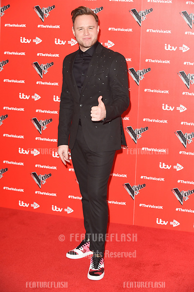 "LONDON, UK. January 03, 2019: Olly Murs at the launch photocall for the 2019 series of ""The Voice"" London.<br /> Picture: Steve Vas/Featureflash"