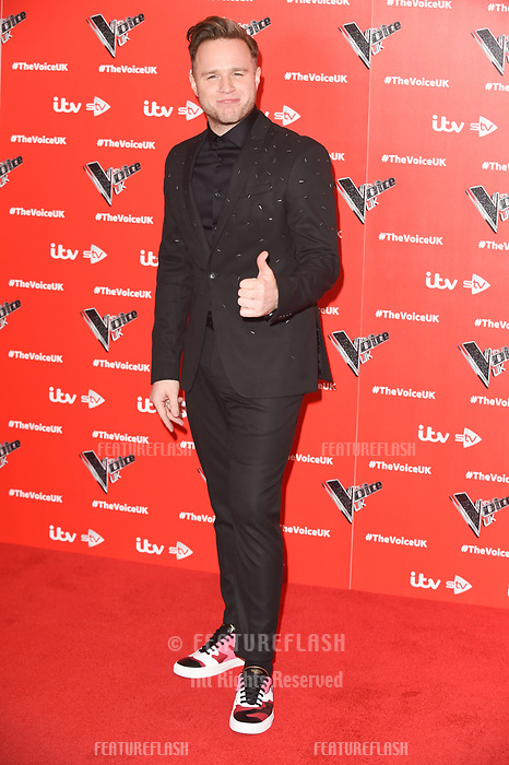 LONDON, UK. January 03, 2019: Olly Murs at the launch photocall for the 2019 series of &quot;The Voice&quot; London.<br /> Picture: Steve Vas/Featureflash