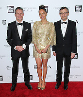 NEW YORK CITY, NY, USA - APRIL 28:  Daniel Riedo, Carmen Chaplin, Laurent Vinay at the 41st Annual Chaplin Award Gala held at Avery Fisher Hall at Lincoln Center for the Performing Arts on April 28, 2014 in New York City, New York, United States. (Photo by Jeffery Duran/Celebrity Monitor)