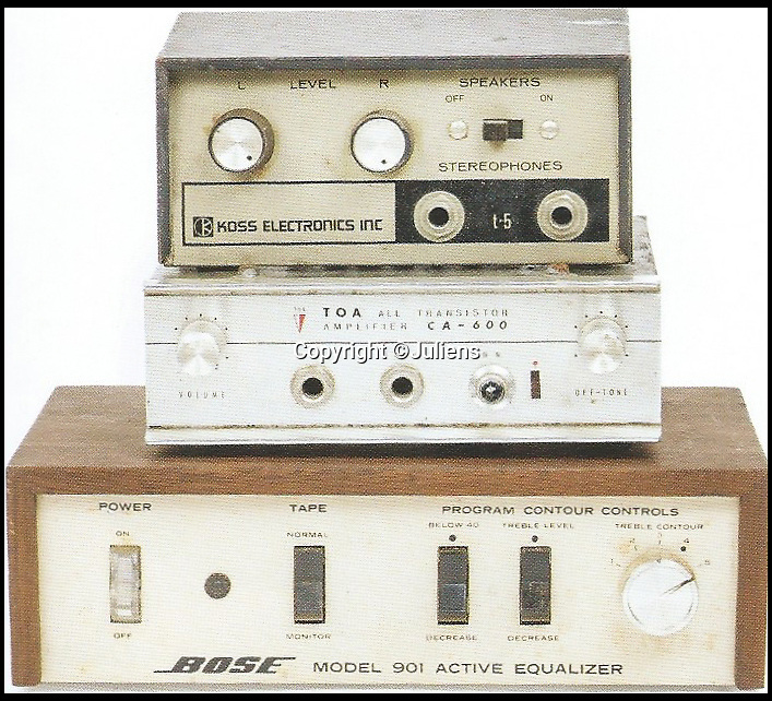 BNPS.co.uk (01202 558833)Pic: Juliens/BNPS<br /> <br /> Mitchell's vintage electronics.<br /> <br /> An enormous collection of items belonging to the late drummer Mitch Mitchell has emerged for sale.<br /> <br /> The star, who died at the age of 67 in 2008, was best known for his work with Jimmy Hendrix Experience between 1966 and 1970.<br /> <br /> Now his family have decided to sell a large amount of his personal items as they feel they can no longer handle the responsibility and want to see them go to a good home.<br /> <br /> The collection is made up of countless instruments, shirts, posters and documents - many of which are previously unseen.<br /> <br /> The items offer a gateway to a different time with some incredibly outlandish and psychedelic lots perfectly encapsulating London in the 60s.<br /> <br /> Among them is a multi coloured, patchwork shaggy coat which Mitchell would often wear to parties.<br /> <br /> The coat hangs below the waist and looks more like a rug from Austin Powers front room than a sophisticated dinner jacket.