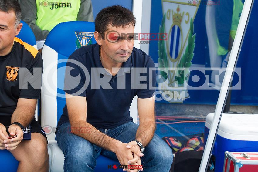 Club Deportivo Leganes's Asier Garitano during the match of La Liga between Club Deportivo Leganes and Futbol Club Barcelona at Butarque Estadium in Leganes. September 17, 2016. (ALTERPHOTOS/Rodrigo Jimenez) /NORTEPHOTO