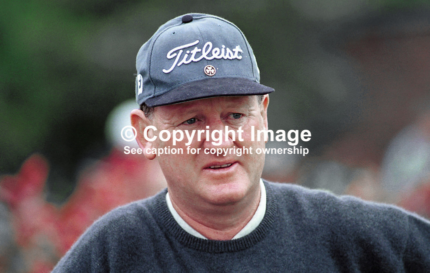 Eamonn Darcy, Professional Golfer, Rep of Ireland, Ref: 199907125. .Photograph taken July 1999 at Druids Glen, Co Wicklow, during Murphys Irish Open.<br />