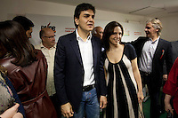 SAO PAULO, SP 29/06/2012 POLITICA - PMDB GABRIEL CHALITA- Na manh&atilde; desta sexta-feira 29, PMDB junto e Gabriel chalota, candidato a prefeitura da cidade de Sao Paulo, anunciaram a m&eacute;dica Marianne Pinotti como vice na chapa para disputar as elei&ccedil;&otilde;es municipais de Outubro de 2012.<br /> na foto Gabriel chalita e Marianne Pinotti<br /> LOCAL diret&oacute;rio municipal PMDB, regi&atilde;o central de Sao Paulo<br /> VAGNER CAMPOS BRAZIL PHOTO PRESS