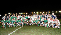 Photo: Richard Lane/Richard Lane Photography. England Legends v Ireland Legends. The Stuart Mangan Memorial Cup. 26/02/2010. England and Ireland team group at the end of the match.