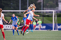 Boston, MA - Friday July 07, 2017: Rosie White and Julie Johnston Ertz during a regular season National Women's Soccer League (NWSL) match between the Boston Breakers and the Chicago Red Stars at Jordan Field.