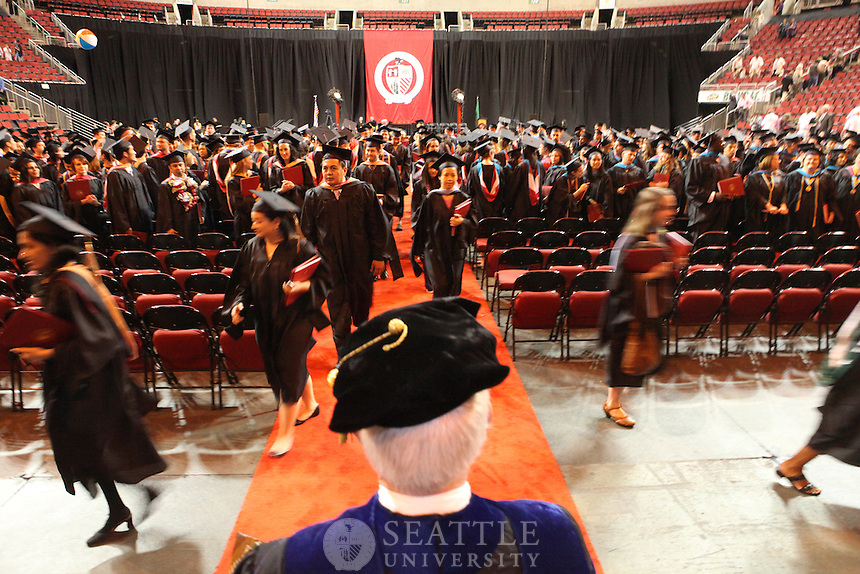 06132010- Seattle University graduate commencement at Key Arena