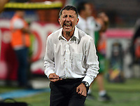 MEDELLIN -COLOMBIA-12-OCTUBRE-2014. Juan Carlos Osorio  Director tecnico del Atletico Nacional  durante el encuentro contra el  Atletico Huila  durante partido de la 14 fecha de La Liga Postobon jugado en el estadio Atanasio Girardot. / Juan Carlos Osorio coach of Atletico Nacional  during match against Atletico Huila  during the 14th date round match of La Liga Postobon played at the Polideportivo Sur  Stadium .  Photo: VizzorImage / Luis Rios / Stringer