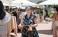First Generation Reception at Weingart Patio, May 20, 2017.<br /> Cultural Graduation Celebrations are an opportunity for smaller groups to come together and acknowledge students' accomplishments with family and friends while celebrating the rich diversity of our campus. The Office of Intercultural Affairs partners with cultural organizations to coordinate the events.<br /> (Photo by Marc Campos, Occidental College Photographer)