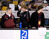 ?, Dan Meenan (BC - Student Manager), Mike Feeley (BC - Student Manager) - The Boston College Eagles defeated the University of Vermont Catamounts 4-0 in the Hockey East championship game on Saturday, March 22, 2008, at TD BankNorth Garden in Boston, Massachusetts.