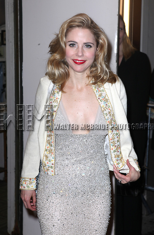 Kerry Butler.exiting the Stager Door after  the Broadway Opening Night Performance of 'Gore Vidal's The Best Man' at the Gerald Schoenfeld Theatre in New York City on 4/1/2012