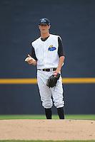 Trenton Thunder pitcher Shane Greene (27) during game against the Altoona Curve at ARM & HAMMER Park on July 24, 2013 in Trenton, NJ.  Altoona defeated Trenton 4-2.  Tomasso DeRosa/Four Seam Images
