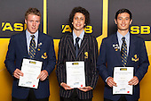 Boys Lawn Bowls finalists Thomie Davies, Clayton Hockley and Rory Soden. ASB College Sport Young Sportsperson of the Year Awards held at Eden Park, Auckland, on November 24th 2011.