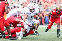 College Park, MD - September 15, 2018: Temple Owls fullback Rob Ritrovato (4) is tackled during the game between Temple and Maryland at  Capital One Field at Maryland Stadium in College Park, MD.  (Photo by Elliott Brown/Media Images International)