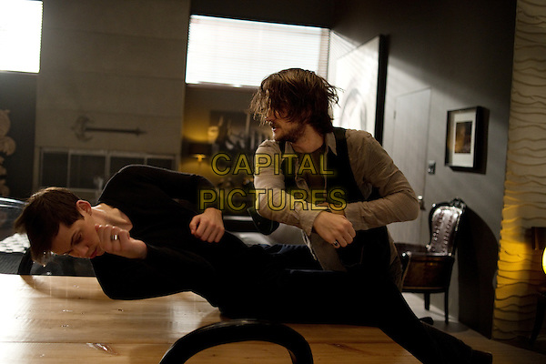 Bill Skarsgard and Landon Liboiron<br /> in Hemlock Grove (2013&ndash; )<br /> (Season 2)  <br /> *Filmstill - Editorial Use Only*<br /> CAP/NFS<br /> Image supplied by Netflix/Capital Pictures