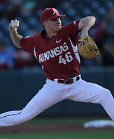 NWA Democrat-Gazette/ANDY SHUPE<br /> Arkansas Memphis Tuesday, April 18, 2017, during the inning at Baum Stadium. Visit nwadg.com/photos to see more photographs from the game.