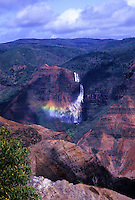 Waipoo falls with rainbow