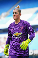 20190907 – MANCHESTER, ENGLAND: Manchester United's goal keeper Mary Earps is pictured during the match between Manchester City Women and Manchester United Women, first game for both of the teams in the the Barclays FA Women's Super League , Saturday  7th September 2019 at the Ethiad Stadium, Manchester. PHOTO SPORTPIX.BE | Sevil Oktem
