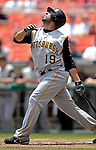7 June 2007: Pittsburgh Pirates third baseman Jose Bautista in action against the Washington Nationals at RFK Stadium in Washington, DC. The Pirates defeated the Nationals 3-2 in the third game of their 3-game series...Mandatory Credit: Ed Wolfstein Photo
