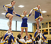 East Meadow performs during the Nassau County varsity cheerleading championships at Wantagh High School on Sunday, Feb. 25, 2018.