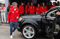 Real Madrid player Fabio Coentrao participates and receives new Audi during the presentation of Real Madrid's new cars made by Audi at the Jarama racetrack on November 8, 2012 in Madrid, Spain.(ALTERPHOTOS/Harry S. Stamper) .<br /> &copy;NortePhoto