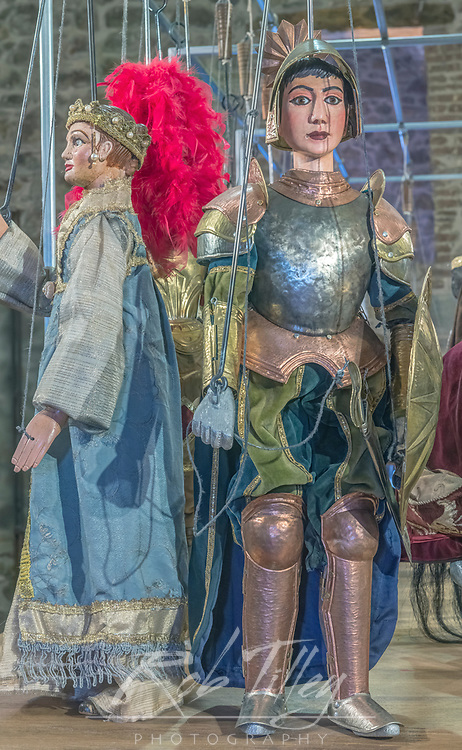 Europe, Italy, Sicily, Castelbuono, Castle Museum, Medieval Puppets