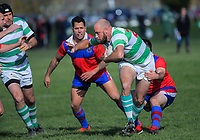 Action from the Waikato presidents club rugby match between Marist and Te Rapa Clydesdales at Marist Park in Hamilton, New Zealand on Saturday, 8 June 2019. Photo: Dave Lintott / lintottphoto.co.nz
