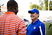 September 6, 2008. Durham, NC..  College football in the Triangle..Duke University lost a home game 20- 24 to Northwestern.. New Duke head coach, David Cutcliffe.