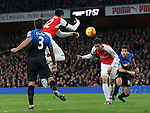 Arsenal's Gabriel scoring his sides opening goal<br /> <br /> Barclays Premier League- Arsenal vs AFC Bournemouth - Emirates Stadium - England - 28th December 2015 - Picture - David Klein/Sportimage