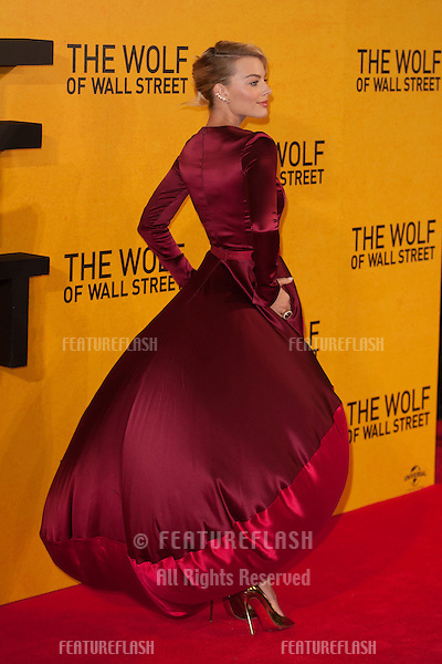 Margot Robbie arriving for the UK Premiere of The Wolf Of Wall Street, Odeon Leicester Square, London. 09/01/2014 Picture by: Dave Norton/ Featureflash