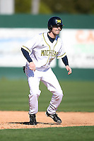 February 20, 2009:  Bryce Aspinwall (23) of the University of Michigan during the Big East-Big Ten Challenge at Jack Russell Stadium in Clearwater, FL.  Photo by:  Mike Janes/Four Seam Images