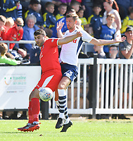 Preston North End's Paul Huntington in action during todays match  <br /> <br /> Photographer Dave Howarth/CameraSport<br /> <br /> Football Pre-Season Friendly - Bamber Bridge v Preston North End - Saturday 6th July 2019 - Sir Tom Finney Stadium - Bamber Bridge<br /> <br /> World Copyright © 2019 CameraSport. All rights reserved. 43 Linden Ave. Countesthorpe. Leicester. England. LE8 5PG - Tel: +44 (0) 116 277 4147 - admin@camerasport.com - www.camerasport.com