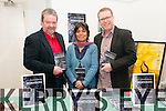 """Book Launch : Shahidah Janjua, Castlegregory pictured at the launch of her book of Poetry & Shorts """"Dimensions"""" at the Seanchai Centre, Listowel on Saturday last with John McGrath, who launched the book & John Loughrey."""