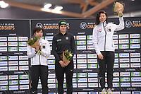 SPEEDSKATING: HAMAR: Vikingskipet, 28-02-2020, ISU World Speed Skating Championships, Sprint, Podium 500m Ladies, Nao Kodaira (JPN), Vanessa Herzog (AUT), Miho Takagi (JPN), ©photo Martin de Jong