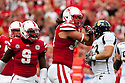 03 Sep 2011: Cameron Meredith #34 of the Nebraska Cornhuskers celebrates his sack against Chattanooga Mocs during the first quarter at Memorial Stadium in Lincoln, Nebraska. Nebraska defeated Chattanooga 40 to 7.