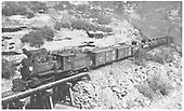 RGS 2-8-0 #42 hauling box and tank cars crossing Bridge 158-B.  #41 is a pusher on end of train.<br /> RGS  Porter, CO  Taken by Jackson, Richard B. - 7/1/1938