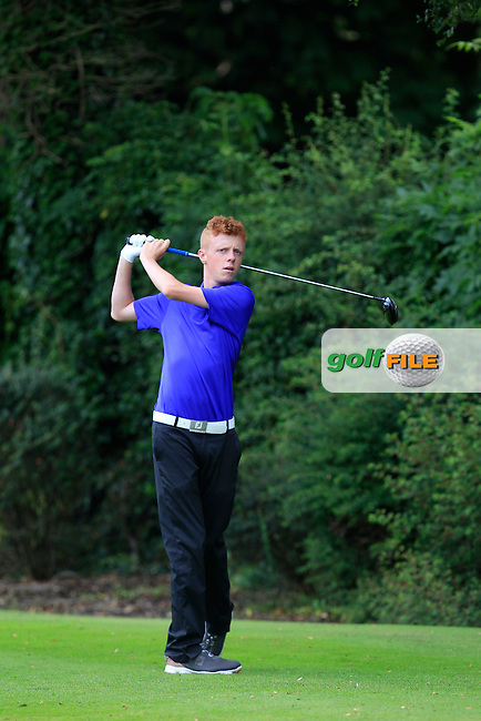Jack Doherty (Carton House) on the 7th tee during Round 1 of the Ulster U16 Boys Open at Dungannon Golf Club on Wednesday 12th August 2015.<br /> Picture:  Thos Caffrey / www.golffile.ie