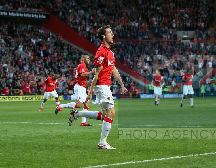 Charlton's David Mooney celebrates scoring his sides opening goal