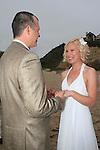 MALIBU, CA - MAR 16: Kristine and Thorin Allen wedding on March 16, 2012 on Sunset Beach in Malibu, California..
