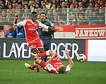 08.03.2019, Stadion an der Wuhlheide, Berlin, GER, 2.FBL, 1.FC UNION BERLIN  VS. FC Ingolstadt 04, <br /> DFL  regulations prohibit any use of photographs as image sequences and/or quasi-video<br /> im Bild Carlos Mane (1.FC Union Berlin #17), #u223#, Bjoern Paulsen (FC Ingolstadt #14)<br /> <br /> <br />      <br /> Foto &copy; nordphoto / Engler