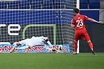 Torwart Oliver Baumann (Hoffenheim) haelt den Elfmeter von Mark Uth (1. FC Koeln).<br /> <br /> Sport: Fussball: 1. Bundesliga: Saison 19/20: 28. Spieltag: TSG 1899 Hoffenheim - 1. FC Koeln, 27.05.2020<br /> <br /> Foto: Markus Gilliar/GES/POOL/PIX-Sportfotos.<br /> <br /> Nur für journalistische Zwecke! Only for editorial use!<br /> <br /> Gemäß den Vorgaben der DFL Deutsche Fußball Liga ist es untersagt, in dem Stadion und/oder vom Spiel angefertigte Fotoaufnahmen in Form von Sequenzbildern und/oder videoähnlichen Fotostrecken zu verwerten bzw. verwerten zu lassen. DFL regulations prohibit any use of photographs as image sequences and/or quasi-video.