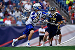 FOXBORO, MA - MAY 28: Ryan Maciejewski (25) of the Limestone Saints during the Division II Men's Lacrosse Championship held at Gillette Stadium on May 28, 2017 in Foxboro, Massachusetts. (Photo by Larry French/NCAA Photos via Getty Images)