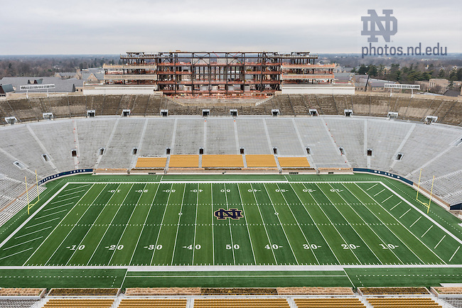 Dec. 16, 2015; View of the field from the premium seating in Corbett Family Hall. (Photo by Matt Cashore/University of Notre Dame)