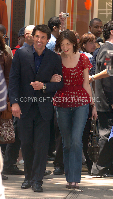 WWW.ACEPIXS.COM . . . . .  ....June 7 2007, New York City....Actors Michelle Monoghan and Patrick Dempsey were on the set of their new movie 'Made of Honor' on Fifth Avenue in Manhattan.....Please byline: AJ Sokalner - ACEPIXS.COM..... *** ***..Ace Pictures, Inc:  ..te: (646) 769 0430..e-mail: info@acepixs.com..web: http://www.acepixs.com